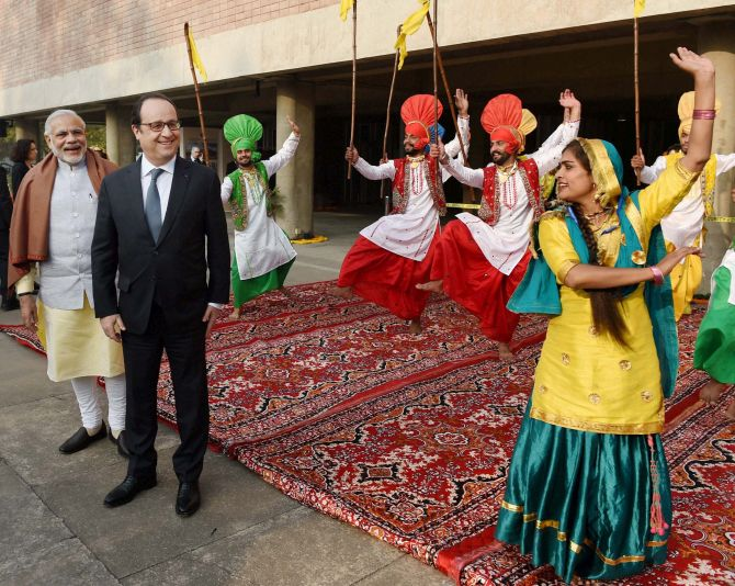 French President in Chandigarh