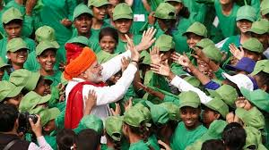Modi with young